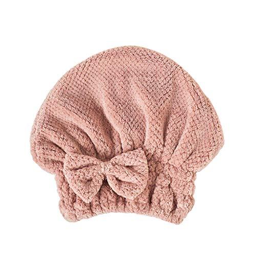 Magischer Augenblick Haartrockner Handtuch Saugfähige Duschhaube Für Erwachsene Aus Mikrofaser Für Trockenes Haar Hut Kappe Wasser Absorbierend Trocknen Von Turban Wrap, 27 × 26 cm