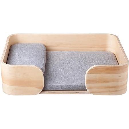 pidan 猫 ベッド ペットベッド レクタングル 洗える 木製
