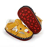 TAREYKA Infant Baby Boys Girls Sandals Closed-Toe PU Leather Soft Anti-Slip Rubber Sole Infant Summer Outdoor Shoes Toddler First Walkers Flat Shoes(12-18 Months Toddler F/yellow)