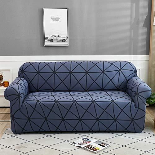 ASCV Funda de sofá a Cuadros Estiramiento Todo Incluido Funda de sofá para Sala de Estar Funda de sofá Funda de sofá Funda de sofá 1/2/3/4 plazas A3 3 plazas