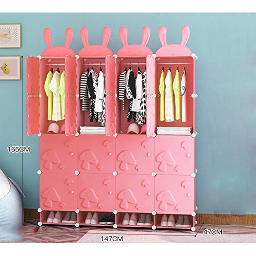 %31 OFF! Xnxn Kids Armoire Wardrobe Armoire, Modern Simple Cloth Modular Closet Organizer Children's...