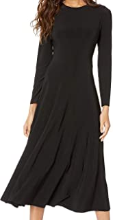 KAMALIKULTURE by Norma Kamali Women's Long Sleeve Flared Dress