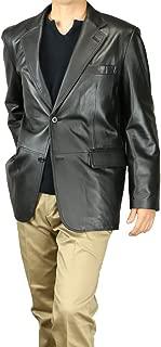 [UNITED GOLD] レザー ジャケット メンズ ラムレザー 高級ラム 羊革 皮 56051