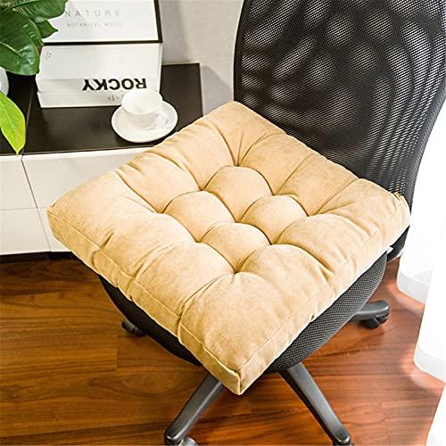 RAILONCH Tatami - Cuscino per sedia, quadrato, spessore imbottito, per interni ed esterni, colore: giallo, 47 x 47 x 8 cm
