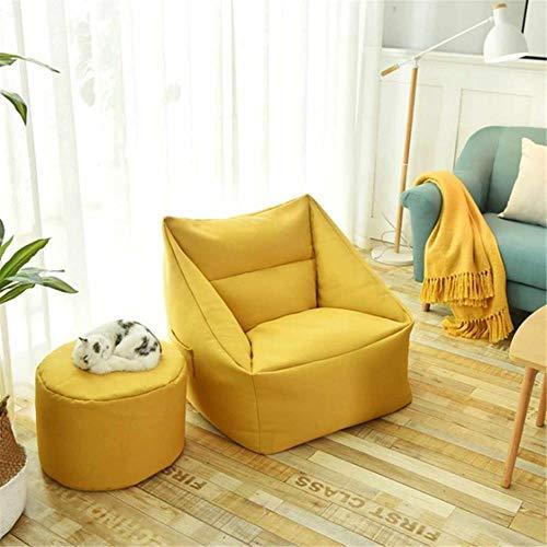 Mingi Lazy Sofa Indoor Sitz Stuhlabdeckung Wasserdicht Sitzsack Lazybag Puff Sofas Große Sitzsackabdeckung Sessel Waschbar, Gelb