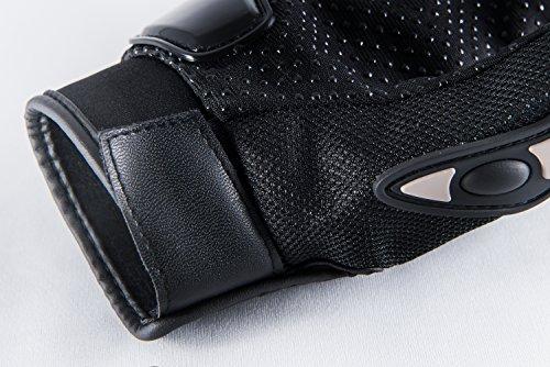Motorradhandschuhe Pursuit Moto L schwarz kurz Sommer Touchscreen für Herren und Damen Motocross Handschuhe Fahrrad MTB Roller Sport Mofa - 5
