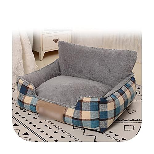 Pet bed Cama de perro para mascotas cálida extraíble suave para perros, lavable casa sofá colchonetas para dormir y casas, cama mediana grande para perro - 8-65x55cm