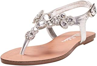 T-Strap Sandal with Halo Crystals Style TAPAN9
