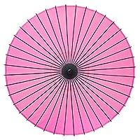 和傘 絹傘 無地 継柄 踊り傘 (ピンク)