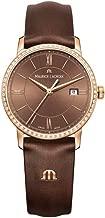 Maurice Lacroix Women's Eliros Swiss-Quartz Watch with Leather Calfskin Strap, Brown, 16 (Model: EL1094-PVPD1-710-1)