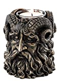 Top Collection Greek God Pan Dual-Sided Tea Light Candle Holder - God of The Wild Sculpture in Premium Cold Cast Bronze - 4-Inch Greek Mythology Collectible Figurine
