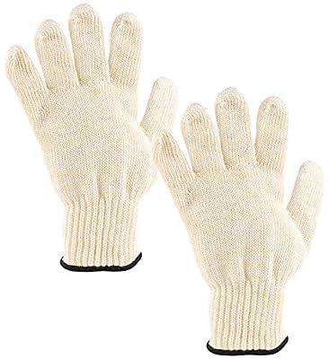 Rosenstein & Söhne Hitzefeste Handschuhe: 2er-Pack Hitzebeständige Grillhandschuhe in Universalgröße, bis 250 °C (Hitzebeständige Handschuhe Grill)