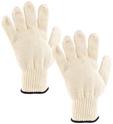 Rosenstein & Söhne Feuerfeste Handschuhe: 2er-Pack Hitzebeständige Grillhandschuhe in Universalgröße, bis 250 °C (Küchenhandschuhe hitzebeständig)