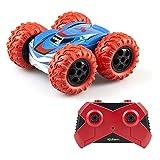 EXOST RC 54257 360 CROSS by Silverlit, ferngesteuertes Auto, 2.4 Ghz, Spielzeugauto, beidseitig befahrbar, geländetauglich, 360° Stunts, Maßstab 1:18, rot, ab 5 Jahren