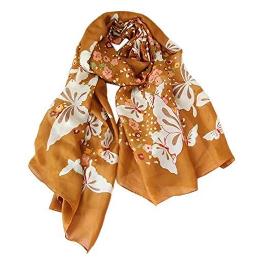 Stylische und Praktische Schals Damenmode schmetterling drucken lange schals weiche floral neck schal schal wickeln große sarong strand vertuschen wrap beachwear rock dress für frauen ( Color : A )