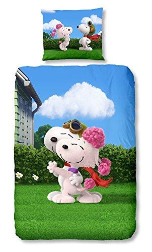 Good Morning! Bettwäsche Snoopy Mehrfarbig 135 x 200 cm + 80 x 80 cm