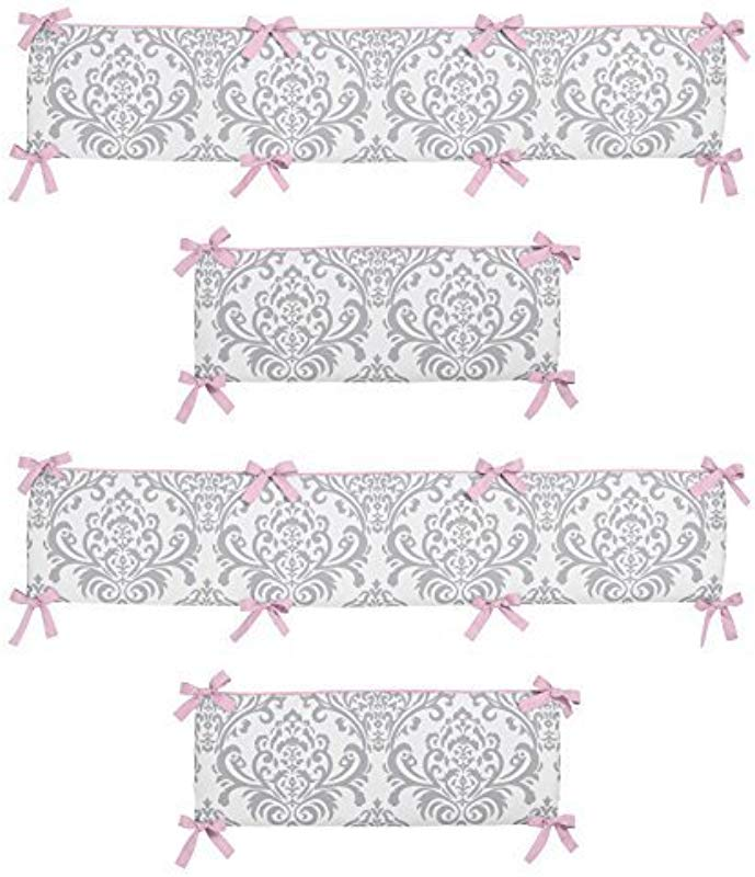 Sweet Jojo Designs Pink And Gray Elizabeth Collection Crib Bumper