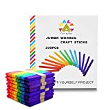 CATPALM Colored Jumbo Wood Craft Sticks for Used for Kids Handicraft, Classrooms, Home, 4 2/1