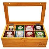 Twinings Tea Bags Sampler Assortment Box - 50 COUNT - Perfect Variety Pack in Bamboo Gift Box - Gift for Family, Friends, Coworkers - English Breakfast, English Afternoon, Green Tea, Earl Grey (Brown)