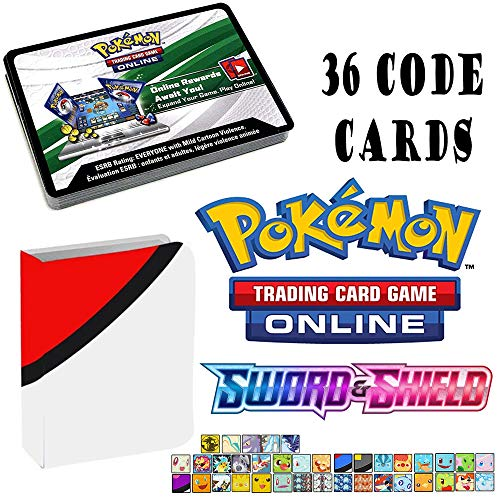 Totem World 36 Pokemon Sword and Shield Booster Pack Online Code Cards TCGO with a Totem Mini Binder
