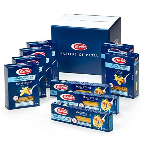 Barilla Glutenfreie Pasta Box - Multipack mit 3 Varianten Glutenfreier Pasta, 9 x 400g