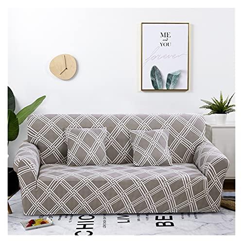OYZK Cubierta de sofá Floral de Estiramiento, sofá elástica Cubiertas para Sala de Estar Sofá Funda Fundas Fundas Sofás con Chaise Longue 1pc (Color : 19, Specification : 1 Seat 90 140cm)