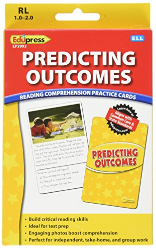 Edupress Reading Comprehension Practice Cards, Predicting Outcomes, Yellow Level (EP62993)