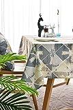 SMLXVHN Vintage Muster Graue Tischdecke,wasserdichte Tischtücher Kaffeetischdecken,Abwaschbare Tischdecke,Hausküche Picknick Gartentischdecke 130X180cm