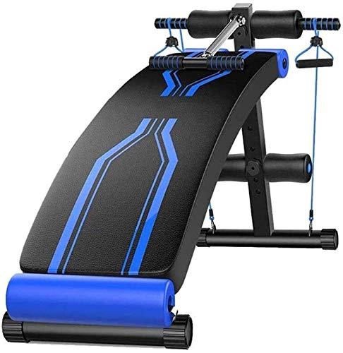 AINH Banco de pesas ajustable para sentarse, ejercicio ajustable, músculos abdominales, fuerza de la tabla supina, equipo de fitness, azul Plus negro