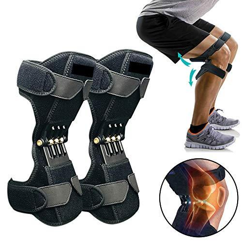 HYGLPXD 1 par de Refuerzos para la Rodilla Refuerzo Tibial,Soporte de la articulación elevación mecánica Fuerza Correas Ajustables, Alivie el Dolor de Artritis, la Condromalacia, etc