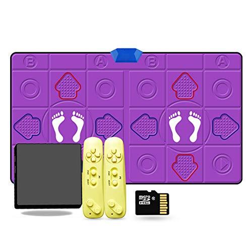 XYW Tanzteppich Double Wireless 3D somatosensorisch rutschfeste Tanz-Step-Tanzmatte HD TV AV Videospiel Dance Mats...