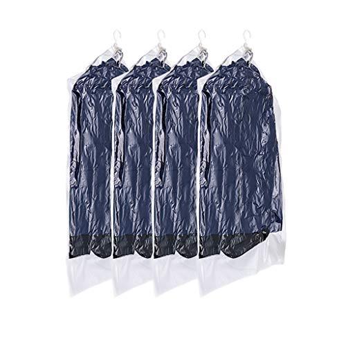 SFF Ropa Almacenaje Colgante de Almacenamiento de vacío Bolsas de Vestir Traje Bolsas Jumbo 4 Pack Espacio Ahorro Sello Sello Ropa Ropa Bolsas de Vacio (Color : Clear)