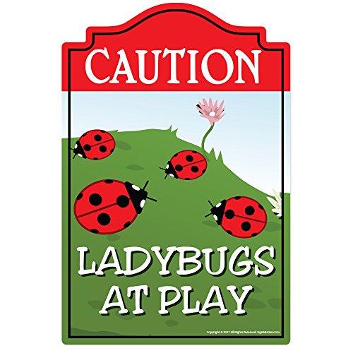 SignMission - Placa decorativa para pared, diseño de mariquitas jugando, Mariquitas en el juego, 8' X 12' Plastic Sign