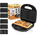 Chefore 6 in 1 Panini Press Grill - Indoor Sandwich Grill - Portable Panini Press - Easy Store Mini Sandwich Makers - 6...