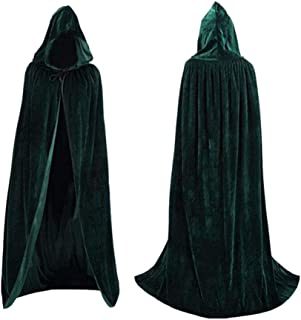 Coolwife Velvet Cloak Cape Kids Hooded Party Halloween Cosplay Children Costumes