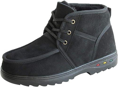 MISS LI Herrenschuhe Winter Mittleren Alters Schnee Stiefel Warm Outdoor Lace Up Pelz Gefüttert Herren Arbeits Utility Footwear Cotton Schuhe
