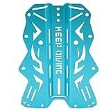 Zouminy Harness Backplate für das Tauchen unter Wasser(Blau)