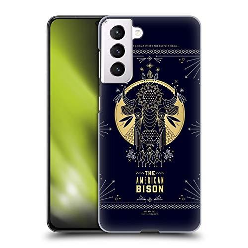 Head Case Designs Licenza Ufficiale Cat Coquillette Bison Lineare Cover Dura per Parte Posteriore Compatibile con Samsung Galaxy S21 5G