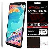 TECHGEAR [Pack de 3] OnePlus 5T Film de Protection Écran Ultra Claire avec Chiffon de Nettoyage &...