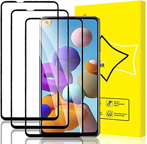 Anrtun - Pacote com 3 películas protetoras de tela para Motorola Moto Z4 Play de vidro temperado [cobertura total HD] [fácil instalação] [borda redonda] [resistente a arranhões] [dureza 9H] [livre de bolhas]