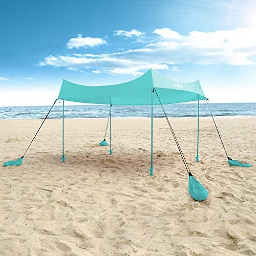 Hike Crew Sun Shade Canopy Lycra Portable Beach Tent Shelter with UPF 50 UV Protection Built product image