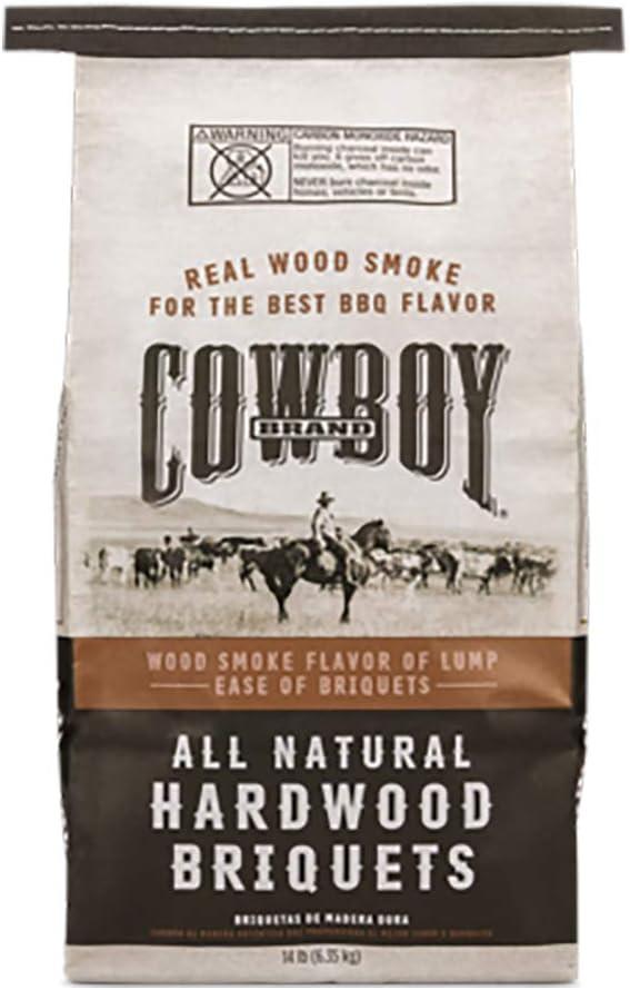 Duraflame Cowboy 26014 Cowboy Hardwood Briquettes - Best Charcoal Briquettes for a Slow Burn