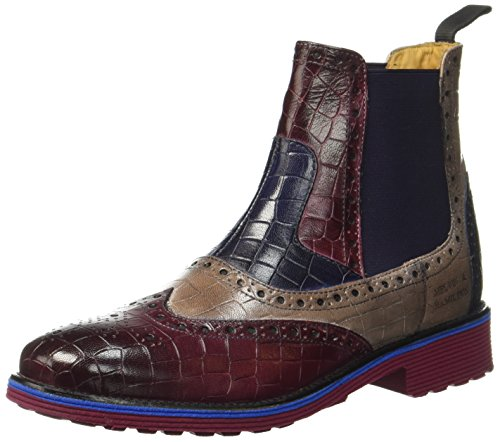 Melvin & Hamilton Amelie 33, Chelsea Boots Femme, Braun Burgundy 1 4 Rope 2 5 Navy 3 6 Ela Purple, 39 EU