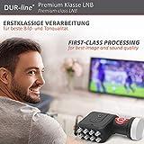 DUR-line +Ultra Octo LNB – 8 Teilnehmer schwarz – mit LTE-Filter, 8-Fach, digital mit Wetterschutz, Full HD, 4K - 2
