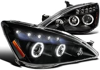 Spec-D Tuning 2LHP-ACD03JM-TM Honda Accord Halo Led Projector Headlights Black Pair