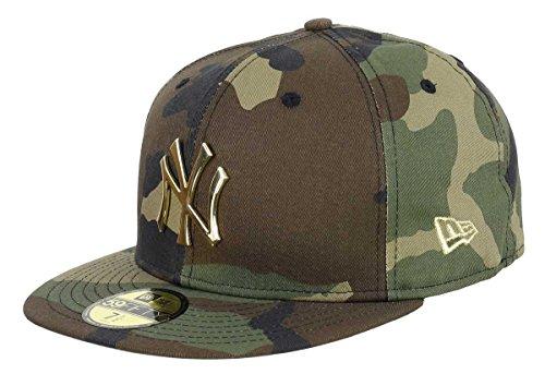 New Era New York Yankees 59fifty Basecap Metal Badge Woodland Black - 7 3/4-62cm