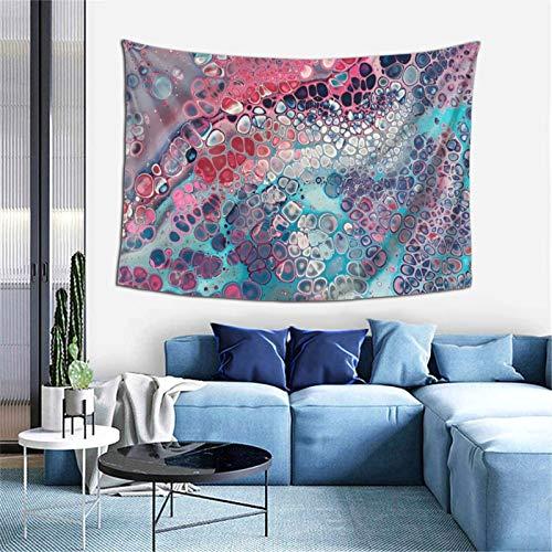 Sandpipper Tapiz para colgar en la pared, arte moderno de colores celulares para decoración del hogar, decoración de dormitorio, sala de estar, dormitorio, alfombra de pared, 60 x 40 pulgadas
