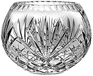 12 Diameter x 6 Tall 5-Pointed Swirl or Wave Pattern Lead Crystal Salad or Centerpiece Bowl 5-34 Pounds
