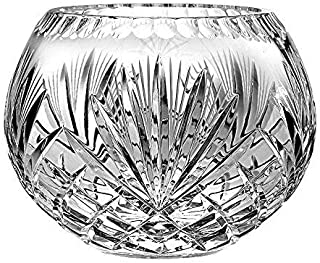 Barski European Hand Cut Majestic Crystal Rose Bowl, 10