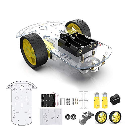 2WD Roboter Smart Auto Chassis DIY Kits Intelligente Motor mit Tracking Geschwindigkeit und Tacho Encoder 65x26mm Reifen für Raspberry Pi(2WD)